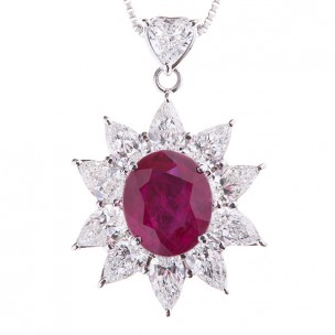 Ruby Necklace Pendant
